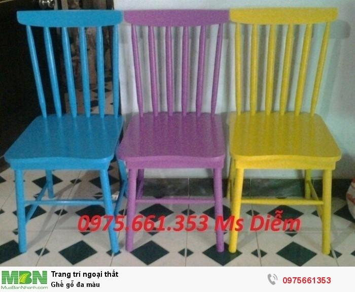 Ghế gỗ đa màu2