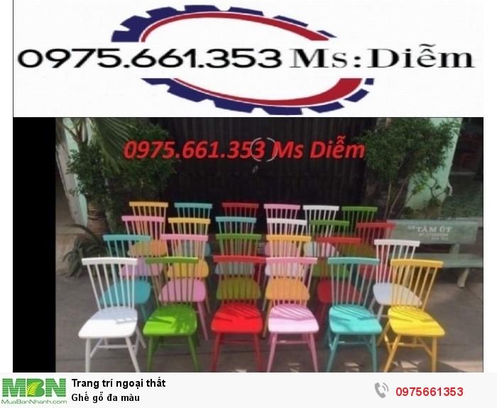 Ghế gỗ đa màu3