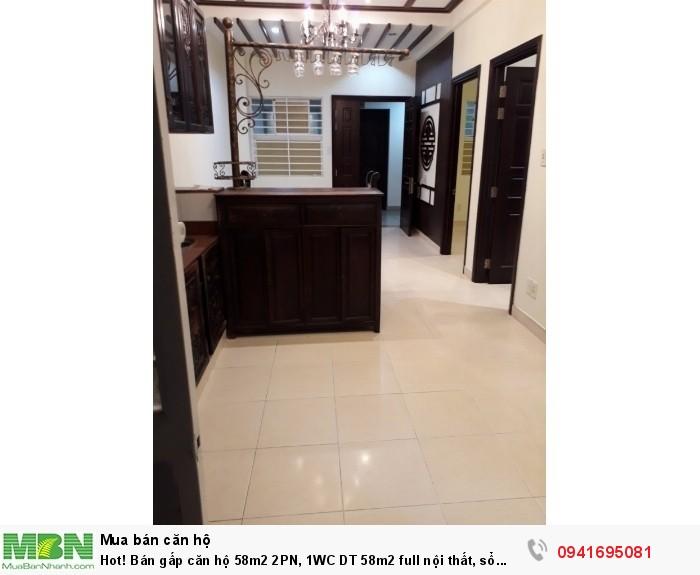 Bán gấp căn hộ 58m2 2PN, 1WC DT 58m2 full nội thất, sổ hồng, KDC Nam Long - Trần Trọng Cung