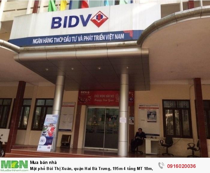 Mặt phố Bùi Thị Xuân, quận Hai Bà Trưng, 195m 4 tầng MT 10m, 65 tỉ, kinh doanh tuyệt đỉnh!!!
