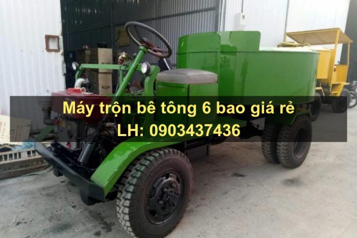 Máy trộn bê tông tự hành 6 bao - Thăng Long giá rẻ