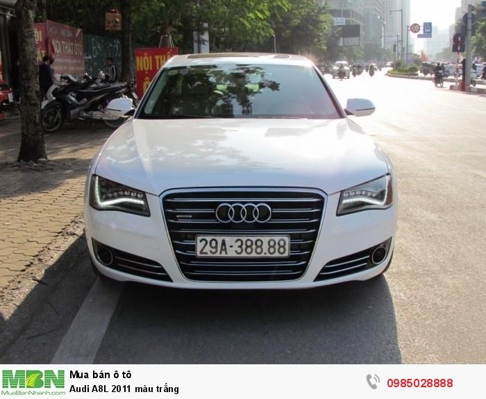 Audi A8L 2011 màu trắng 0
