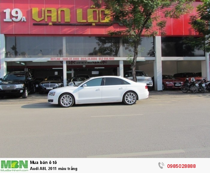 Audi A8L 2011 màu trắng