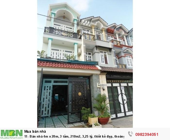 Bán nhà 4m x 20m, 3 tấm, 210m2, 3,25 tỷ, thiết kế đẹp, thoáng mát, đường Bình Thành, Bình Tân