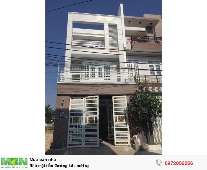 Nhà mặt tiền đường kdc mới sg