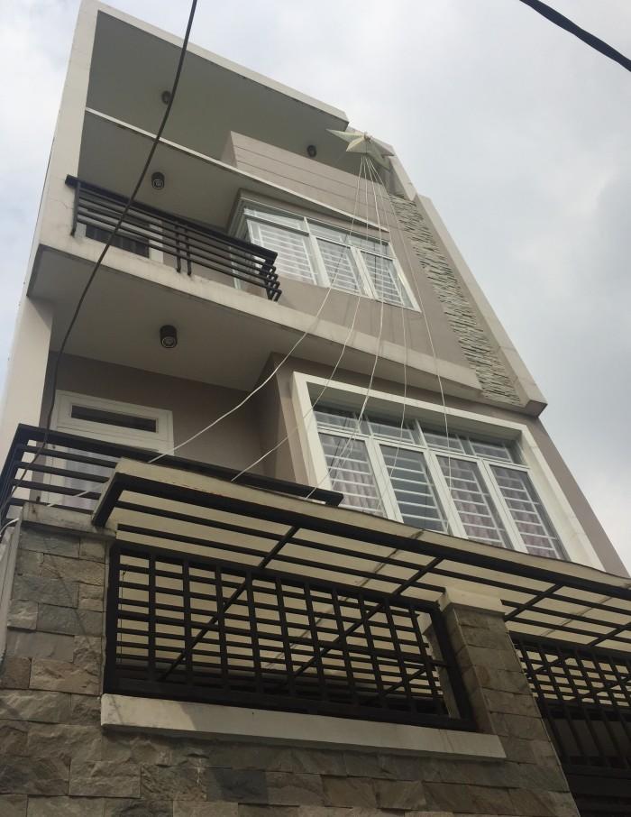 Nhà MT Phường 1, Bình Thạnh, 93m, 4 tầng, MT 4.2m.