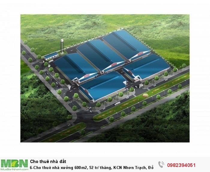 Cho thuê nhà xưởng 600m2, KCN Nhơn Trạch, Đồng Nai.