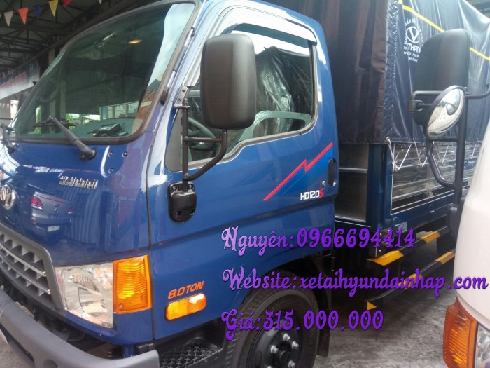 Xe tải HD120SL 8 tấn thùng dài 6 mét 2