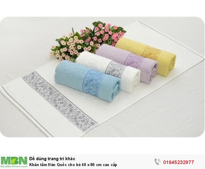 Khăn tắm Hàn Quốc cho bé 40 x 80 cm cao cấp