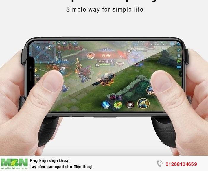 Tay cầm gamepad cho điện thoại.