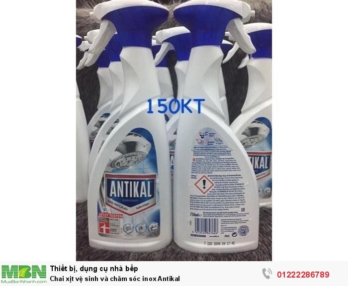 Chai xịt vệ sinh và chăm sóc inox Antikal