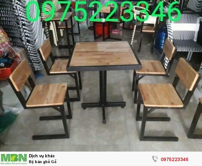 Bộ bàn ghế Gỗ..1