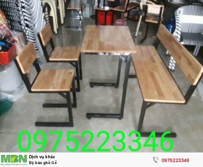 Bộ bàn ghế Gỗ..3