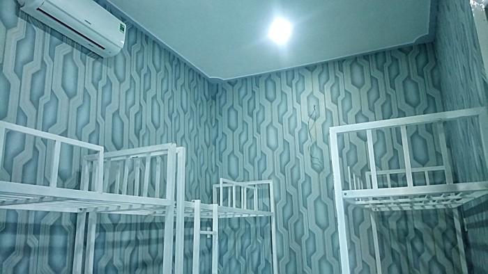 Giường tầng, phòng có máy lạnh 50k/người/ngày.