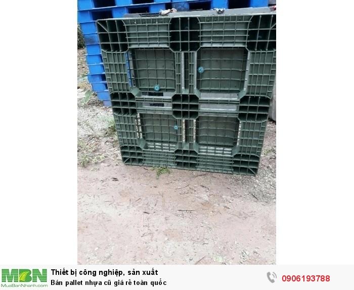 Bán pallet nhựa cũ giá rẻ toàn quốc. KCN Miền Bắc. Liên hệ: 0906193788 (24/24)