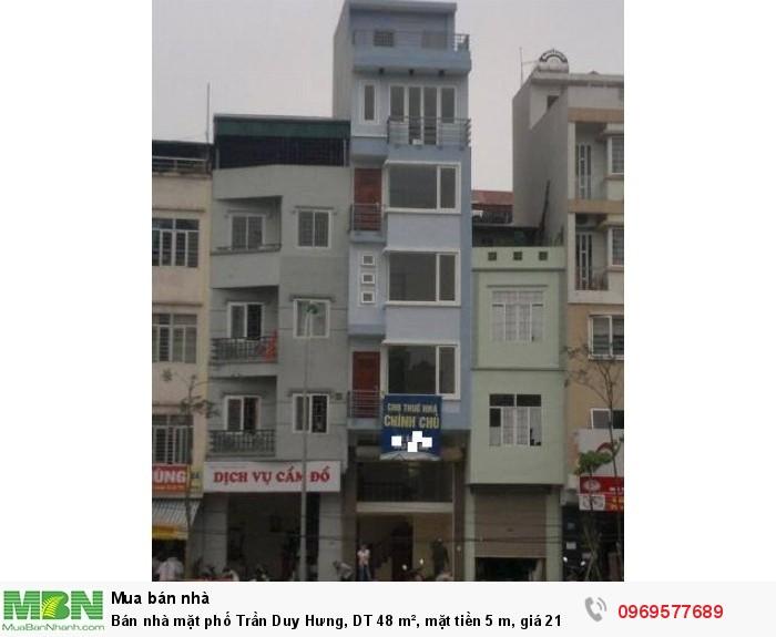 Bán nhà mặt phố Trần Duy Hưng, DT 48 m², mặt tiền 5 m