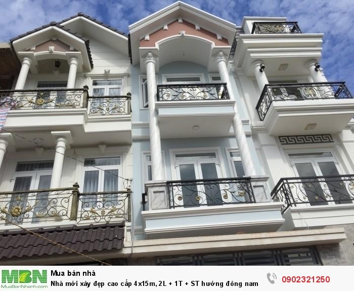 Nhà mới xây đẹp cao cấp 4x15m, 2L + 1T + ST  hướng đông nam đường số 49, Phạm Văn Đồng