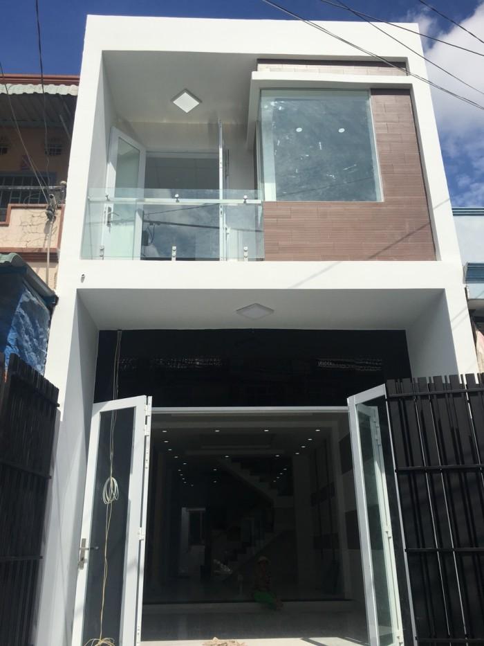 Bán nhà 1 trệt 1 lầu mới xây ở KDC Quanh Vinh mặt phố nướng 80m2