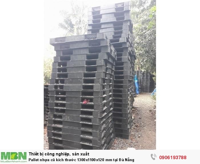Pallet nhựa cũ kích thước 1300x1100x120 mm tại Đà Nẵng. Miễn phí vận chuyển số lượng lớn. Liên hệ: 0906193788 (24/24)