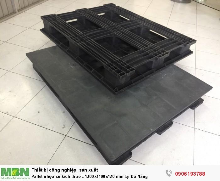 Pallet nhựa cũ tại Đà Nẵng kích thước 1300x1100x120 mm