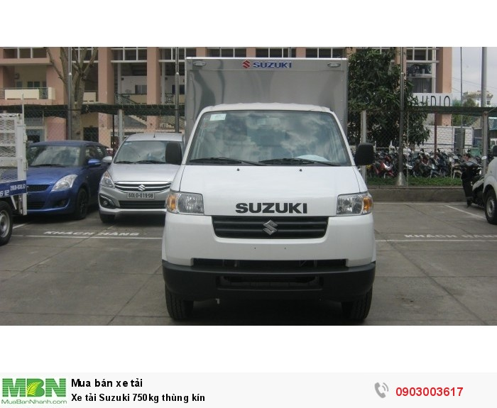 Xe tải Suzuki 750kg thùng kín giá tốt.