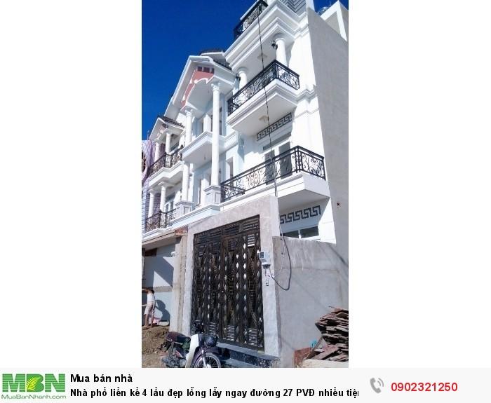 Nhà phố liền kề 4 lầu đẹp lỗng lẫy ngay đường 27 Phạm Văn Đồng nhiều tiện ích, giá CĐT 4 tỷ 50tr