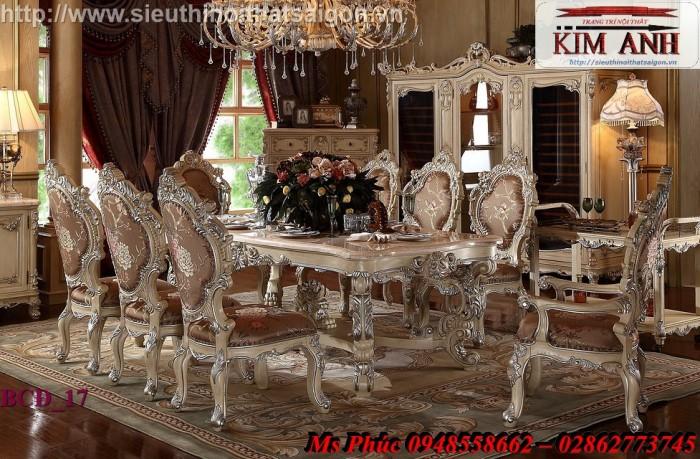 Bàn ăn 6 ghế cổ điển nhập khẩu châu Âu giá rẻ4