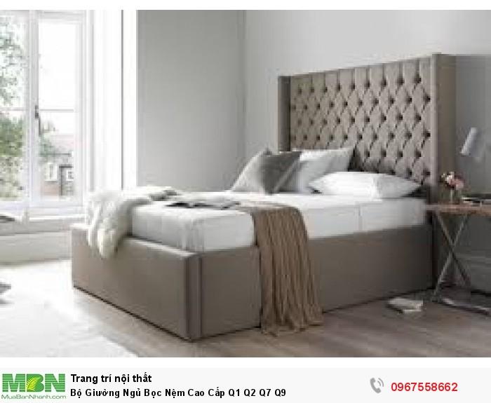 bộ giường ngủ bọc nệm đẹp tại Q1 Q5 Q8 Q33