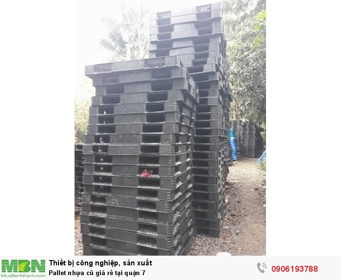 Pallet nhựa cũ giá rẻ tại quận 7. Cung cấp cho các Khu công nghiệp, Khu chế xuất lớn. Liên hệ: 0906193788 (24/24)1