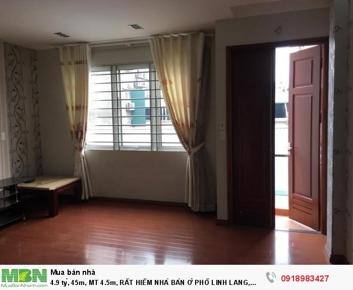45m, MT 4.5m, Rất Hiếm Nhà Bán Ở Phố Linh Lang, Quận Ba Đình.