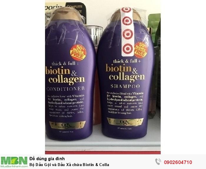 Bộ Dầu Gội và Dầu Xả chứa Biotin & Colla