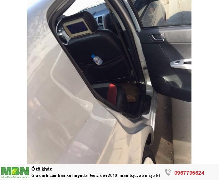 Gia đình cần bán xe huyndai Getz đời 2010, màu bạc, xe nhập khẩu Hàn Quốc 4