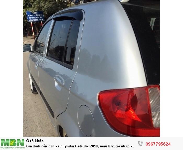 Gia đình cần bán xe huyndai Getz đời 2010, màu bạc, xe nhập khẩu Hàn Quốc 5