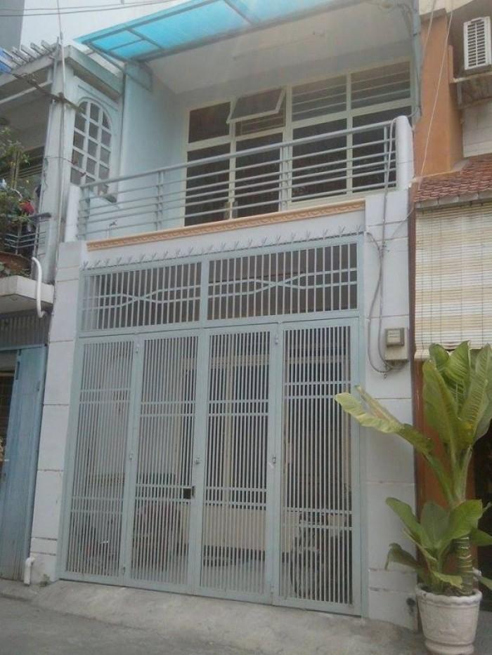 Cho thuê nhà mặt tiền đường Vườn Lài, 4x17, gác lửng