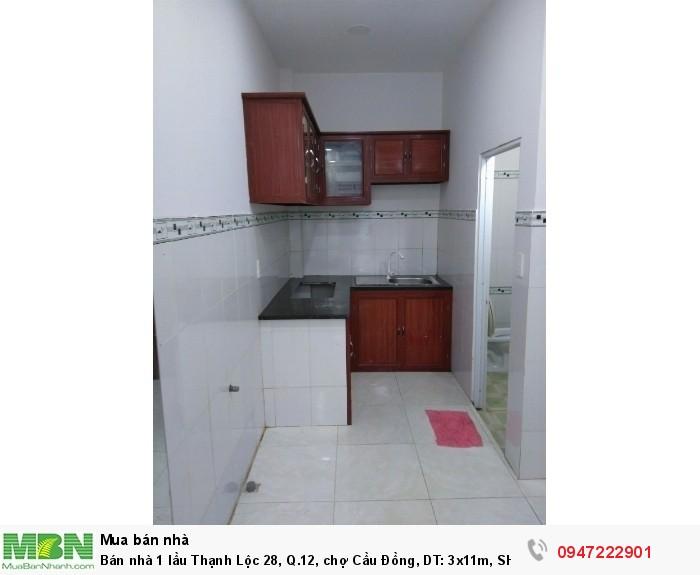 Bán nhà 1 lầu Thạnh Lộc 28, Q.12, chợ Cầu Đồng, DT: 3x11m, SHR