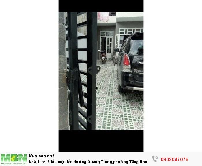Nhà 1 trệt 2 lầu,mặt tiền đường Quang Trung,phường Tăng Nhơn Phú B