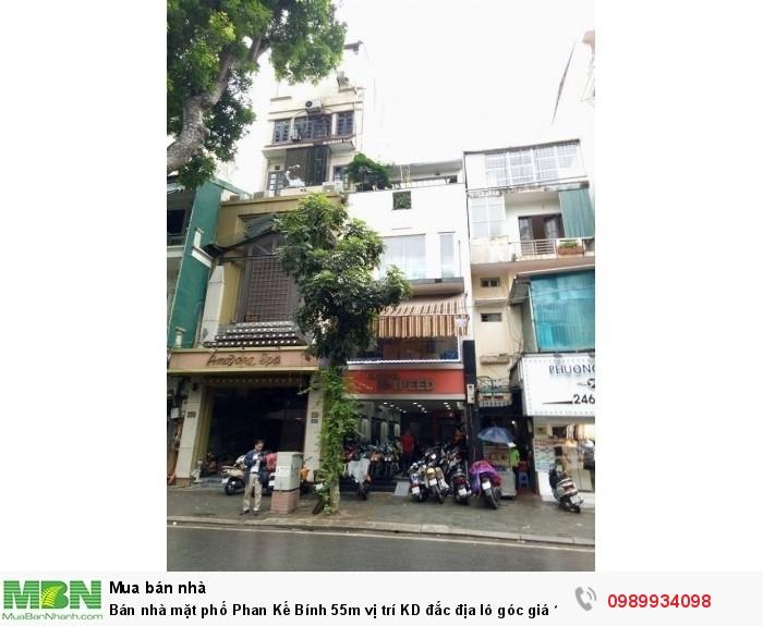 Bán nhà mặt phố Phan Kế Bính 55m vị trí KD đắc địa lô góc giá
