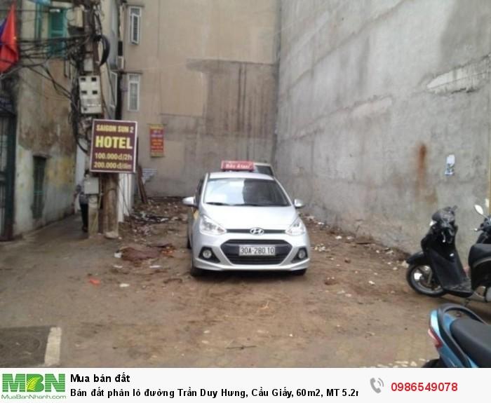 Bán đất phân lô đường Trần Duy Hưng, Cầu Giấy, 60m2, MT 5.2m, vị trí kinh doanh vô địch