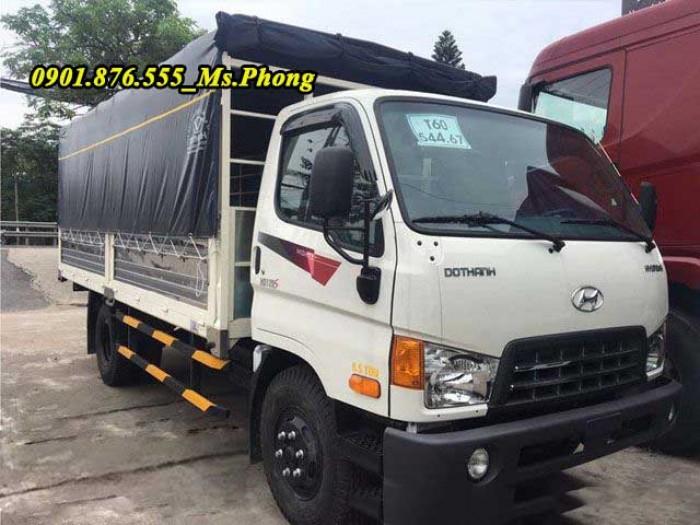 Bán Xe Tải Hyundai 8T HD120S Thùng Mui Bạt Giao Ngay/ Đại lý Xe Tải Hyundai sài gòn