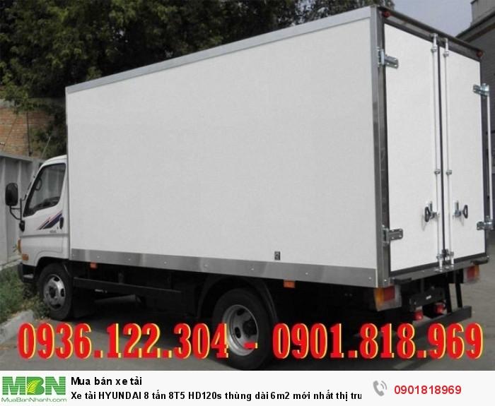 Xe tải HYUNDAI 8 tấn 8T5 HD120s thùng dài 6m2 mới nhất thị trường 2018