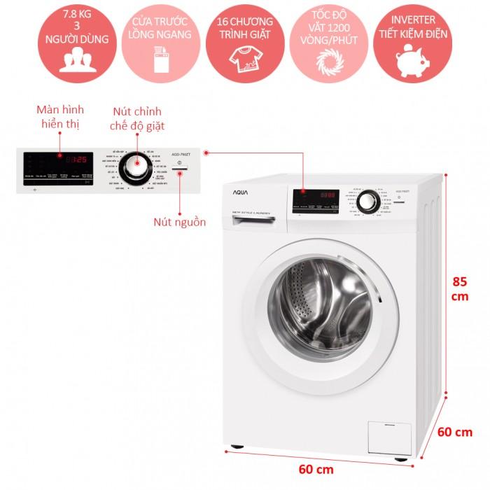 Máy giặt Aqua 7.8 Kg AQD-780ZT0