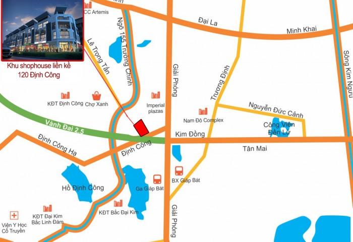 Shophouse T&T 120 Định Công, 66m, 5 Tầng, Mt 6m, Bán Gấp Suất Ngoại Giao