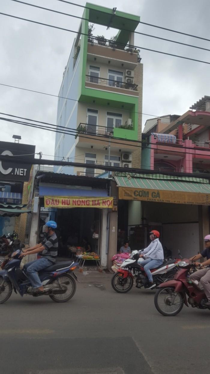 Nhà mặt tiển đường Phan Văn Trị, Q. Bình Thạnh, DT 205m2