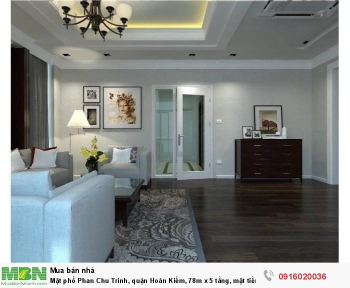 Mặt phố Phan Chu Trinh, quận Hoàn Kiếm, 78m x 5 tầng, mặt tiền 6m, siêu hiếm sầm uất!