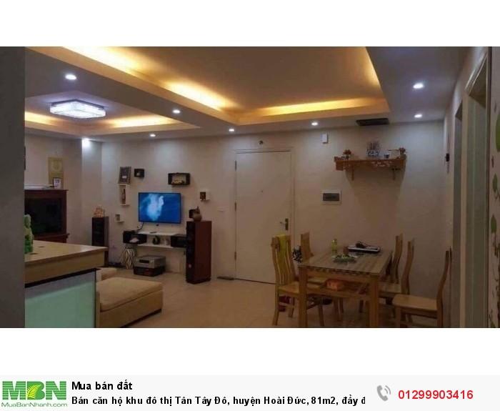 Bán căn hộ khu đô thị Tân Tây Đô, huyện Hoài Đức, 81m2, đầy đủ nội thất
