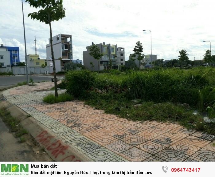 Bán đất mặt tiền Nguyễn Hữu Thọ, trung tâm thị trấn Bến Lức