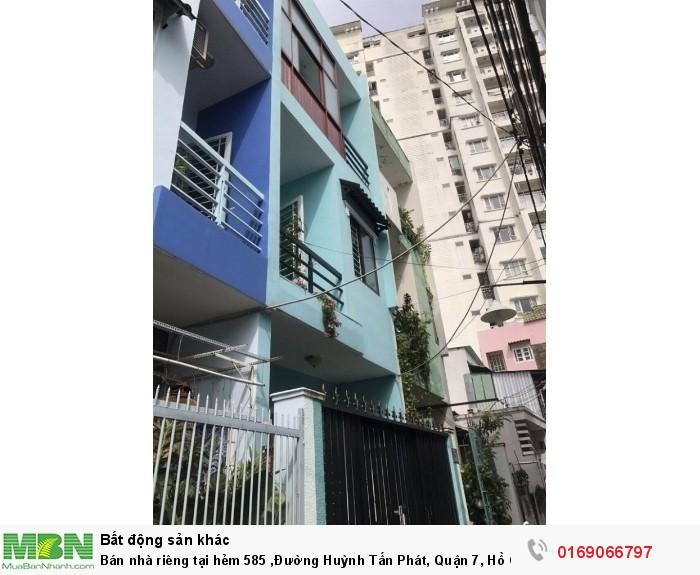 Bán nhà riêng tại hẻm 585 ,Đường Huỳnh Tấn Phát, Quận 7, Hồ Chí Minh diện tích 42m2
