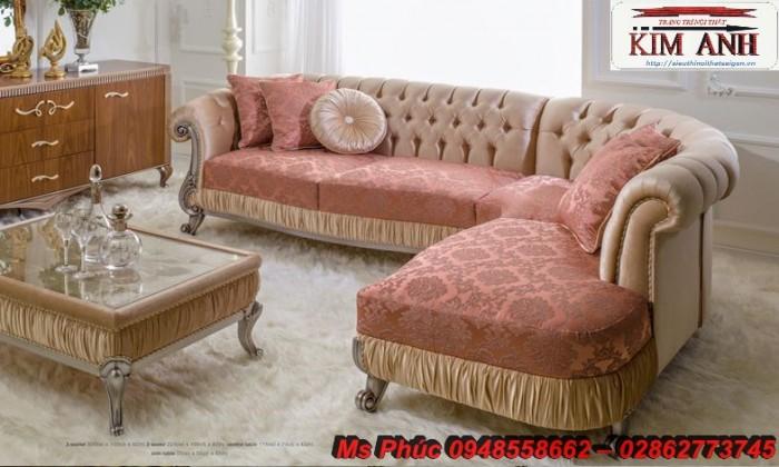 Sofa cổ điển góc L | bàn ghế tân cổ điển thanh lý tại gò vấp12
