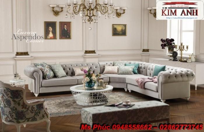 Sofa cổ điển góc L | bàn ghế tân cổ điển thanh lý tại gò vấp18