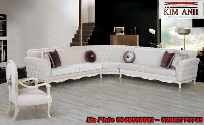 Sofa cổ điển góc L | bàn ghế tân cổ điển thanh lý tại gò vấp19